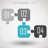 インフォ グラフィックの数字をパズルします。 — ストックベクタ