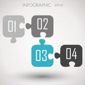 Pussel infographic nummer — Stockvektor