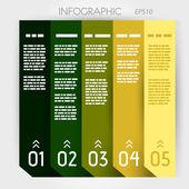Infographic five options notebook columns — Stock Vector