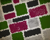 Grunge rectangle oliquue congelé fond vert — Vecteur