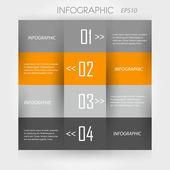 オレンジ色のインフォ グラフィック — ストックベクタ