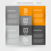 Orange infographik 4 ecken — Stockvektor