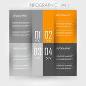Orange infographic 4 squares — Stock Vector
