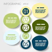 Stor bubbla infographic med stora ringar — Stockvektor