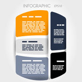 Cylinder infographic layout with 5 articles — Stock Vector
