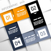 Square infographic four options — Vettoriale Stock