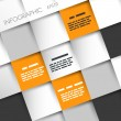 Orange and grey squares infographic background - Grafika wektorowa