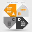 Orange and grey big infographic propeller — Stock Vector