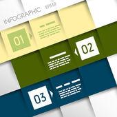 Square inforgraphic three oblique options — Stock Vector