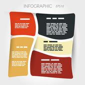 Vriden kvadrat presentation inforgaphic layout — Stockvektor