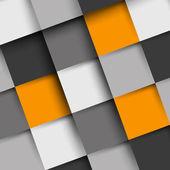 Orange and grey square shadow backgorund — Stock Vector