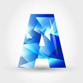 List krystaliczny niebieski — Wektor stockowy