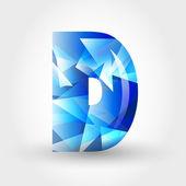 Carta cristalino azul d — Vector de stock