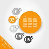три шесть оранжевый инфографики полосатый кольца — Cтоковый вектор