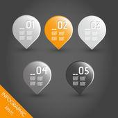 Gotas de infografía naranja oscuro a rayas — Vector de stock