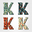 Retro letter K — Stock Vector