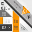 Abstract orange geometric infographics — Imagen vectorial