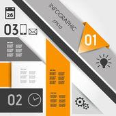 Abstract orange geometric infographics — Stock Vector