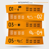 Orange zig zag infographic template — Vecteur