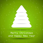 Green snowy christmas tree — Stock Vector