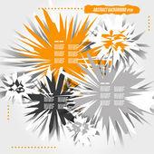 Orange crystalline abstract background — Stock Vector