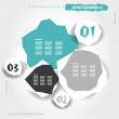 Stock Vector: Turquoise grunge infographic template with buttons