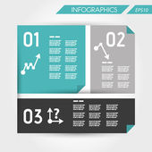 Turquoise flat business template with three options — Wektor stockowy