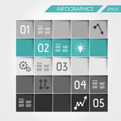 Turquoise infographic square from squares — Vector de stock
