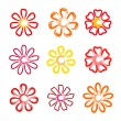 Stock Vector: Flowers