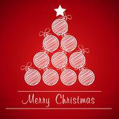 Christmas ball tree — Stock Vector
