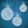 Scribble christmas balls 2 — Vector de stock #33560181
