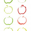 Stock Vector: Apples
