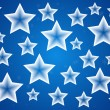 Blue christmas stars background — Image vectorielle