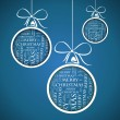 Blue merry christmas text — Imagen vectorial