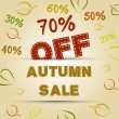 Autumn sale concept — Stock Vector