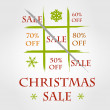 Christmas funny sale — Stock Vector