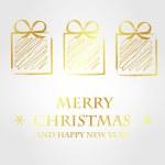 Golden merry christmas template 2 — Stock Vector #33563191