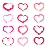Pink heart — Stock Vector