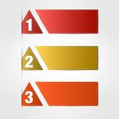 红色横幅 — 图库矢量图片