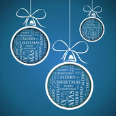Blue merry christmas text — Vecteur