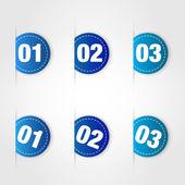 Etichette blue — Vettoriale Stock