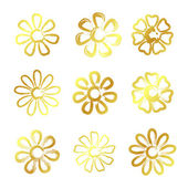 Golden flowers — Stock Vector