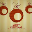 Red vintage merry christmas card 3 — Stock Vector