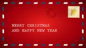 Red christmas letter — Stock Vector