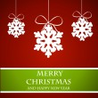 Christmas card with snow flakes — Imagen vectorial