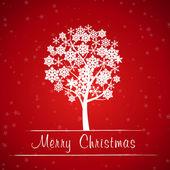 Red christmas tree frame — ストックベクタ