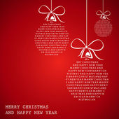 Red merry christmas text frame — Stock Vector