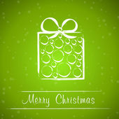 Green christmas frame with circle gift — Vetorial Stock