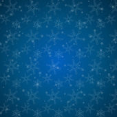 Blue christmas background with stars and snowflakes — Vecteur