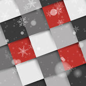 Red and grey christmas square shadow background — Stock Vector